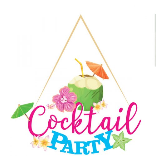 Grande Déco Cocktail Party (39 cm) - Bois