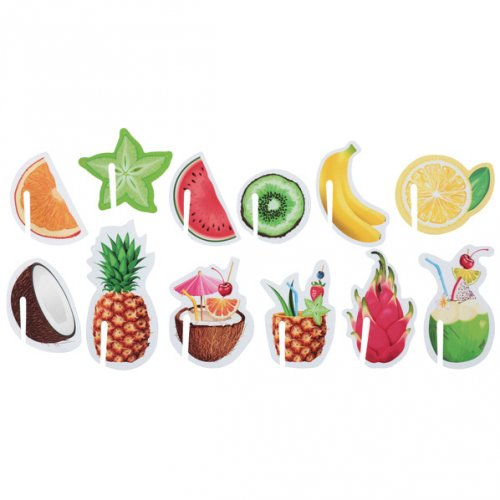 48 Marque Verres Tutti Frutti Cocktail Party - Papier
