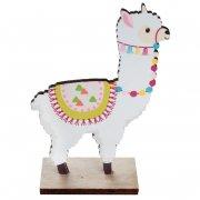 1 Déco de Table Lama Fiesta (12 cm) - Bois