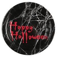 Contient : 1 x 10 Assiettes Happy Halloween