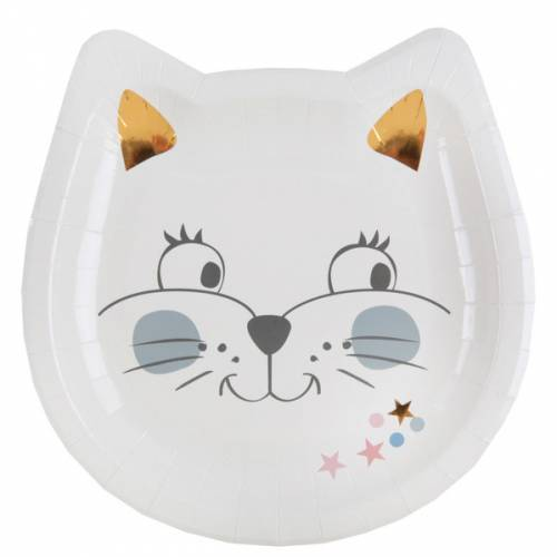 10 Assiettes Chat - Kitty Party