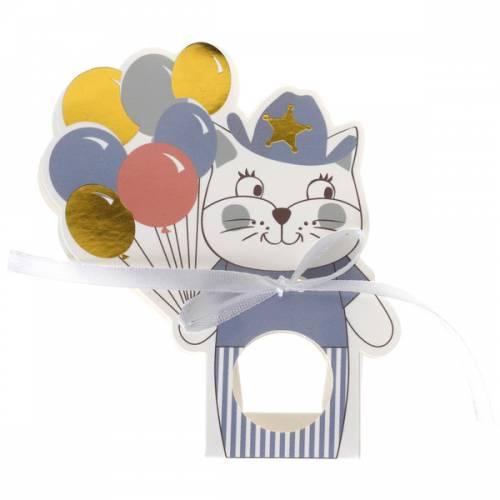 6 Boîtes Cadeaux - Kitty Party Bleu