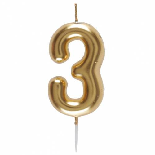 Bougie Or - Chiffre 3