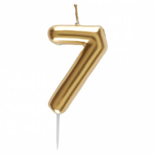 Bougie Or - Chiffre 7