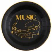 10 Assiettes Musique - Or Noir