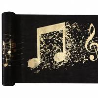 Contient : 1 x Chemin de Table Musique - Or Noir