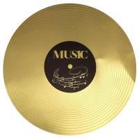 Contient : 1 x 6 Sets de Table Musique - Disque d'Or