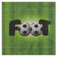 20 Serviettes Foot Vert
