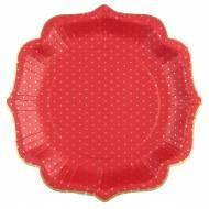 10 Assiettes Il était une Fois Noël Rouge