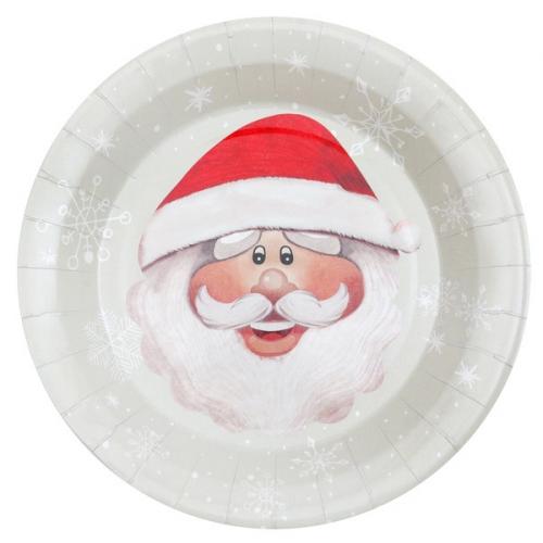 10 Assiettes Père Noël
