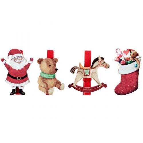 4 Pinces Père Noël