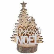 Décor Joyeux Noël Sapin Or