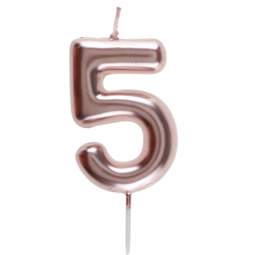 Bougie Rose Gold - Chiffre 5