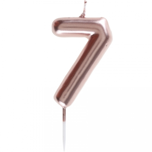 Bougie Rose Gold - Chiffre 7