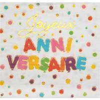 Contient : 1 x 20 Serviettes Anniversaire Ballon Multicolores
