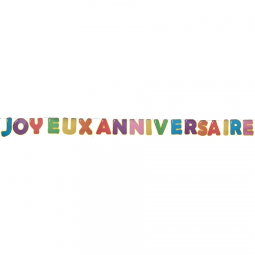 Guirlande Anniversaire Ballon Multicolores
