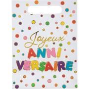 10 Pochettes Cadeaux Anniversaire Ballon Multicolores