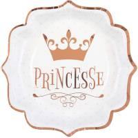 Contient : 1 x 10 Assiettes Princesse Rose Gold
