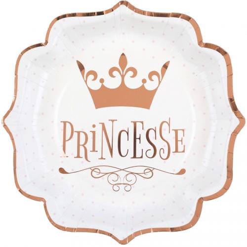 10 Assiettes Princesse Rose Gold