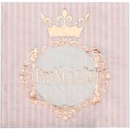 20 Serviettes Princesse Rose Gold