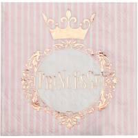 Contient : 1 x 20 Serviettes Princesse Rose Gold
