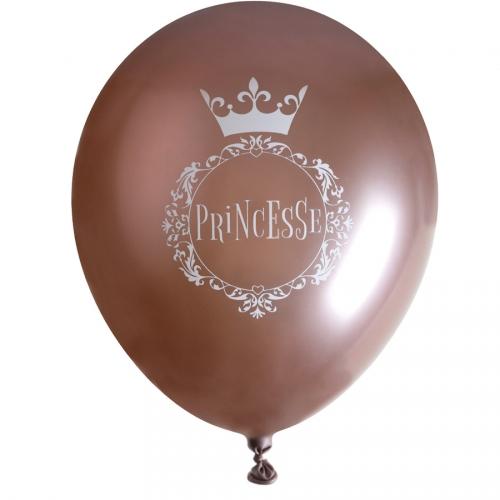 6 Ballons Princesse Rose Gold