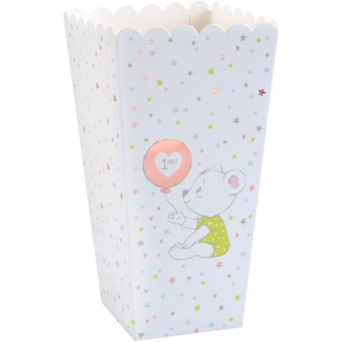 8 Pots à Popcorn Anniversaire 1 An