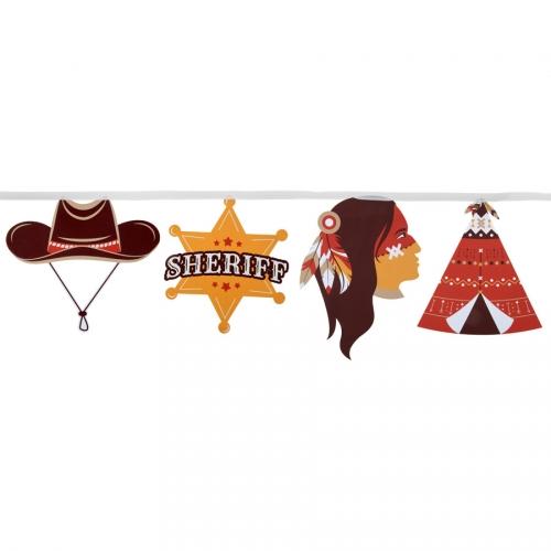 Guirlande Fanions Indien et Cowboy