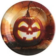 10 Assiettes Epouvantail d'Halloween