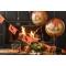 Ballon à plat Citrouille Orange - Ø45 cm images:#1