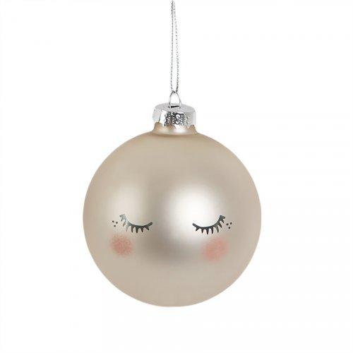 Boule de Noël Douce Nuit Nacre (6 cm) - Verre