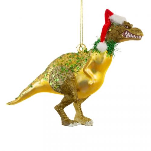Suspension Dino Santasaurus (18 cm) - Verre