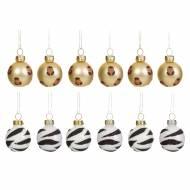 12 Mini Boule de Noël Savane ( 3 cm) - Verre
