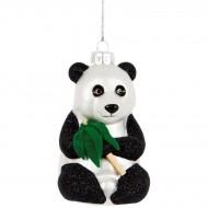 Suspension Panda Bambou (11 cm) - Verre