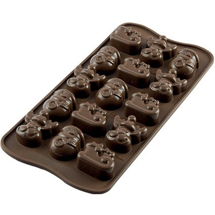 Moule Easy Choc 15 Chocolats Choco Winter 3D - Silicone