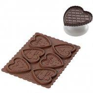 Kit Cookie Choc Biscuits Coeur avec Livre de Recettes