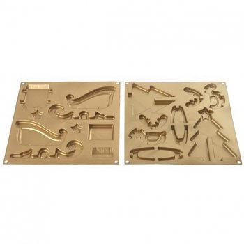 Kit Moule Traineau, Renne et Sapin 3D - Silicone