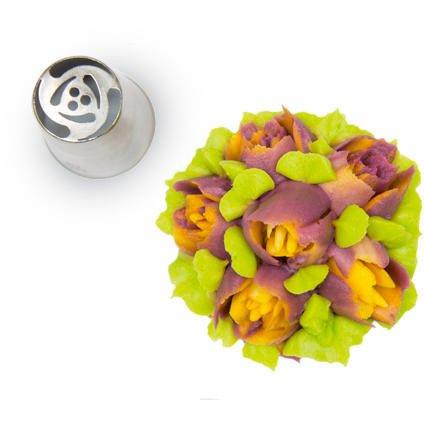 Douille Fleur 3D (2,5 cm) - Acier