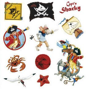 Stickers Capt n Sharky