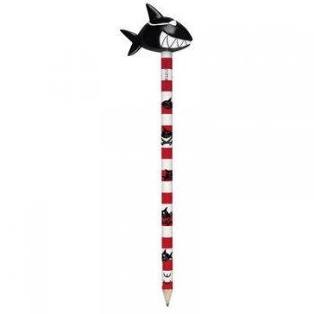 Crayon avec figurine Capt n Sharky