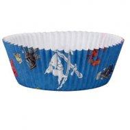 60 Caissettes à Cupcakes Capt'n Sharky Bleu