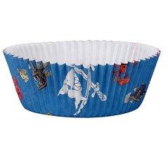 60 Caissettes à Cupcakes Capt n Sharky Bleu
