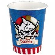 8 Gobelets Capt'n Sharky Bleu