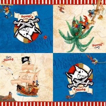 20 Serviettes Capt n Sharky Bleu