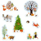 12 Stickers scintillants Hiver