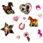 Minis Stickers Amis des chevaux