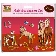 Set de 12 Pochoirs Cheval