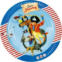 Contient : 1 x 8 Assiettes Pirate Sharky