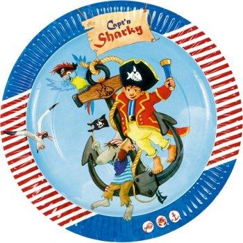 8 Assiettes Pirate Sharky