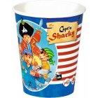 8 Gobelets Pirate Sharky